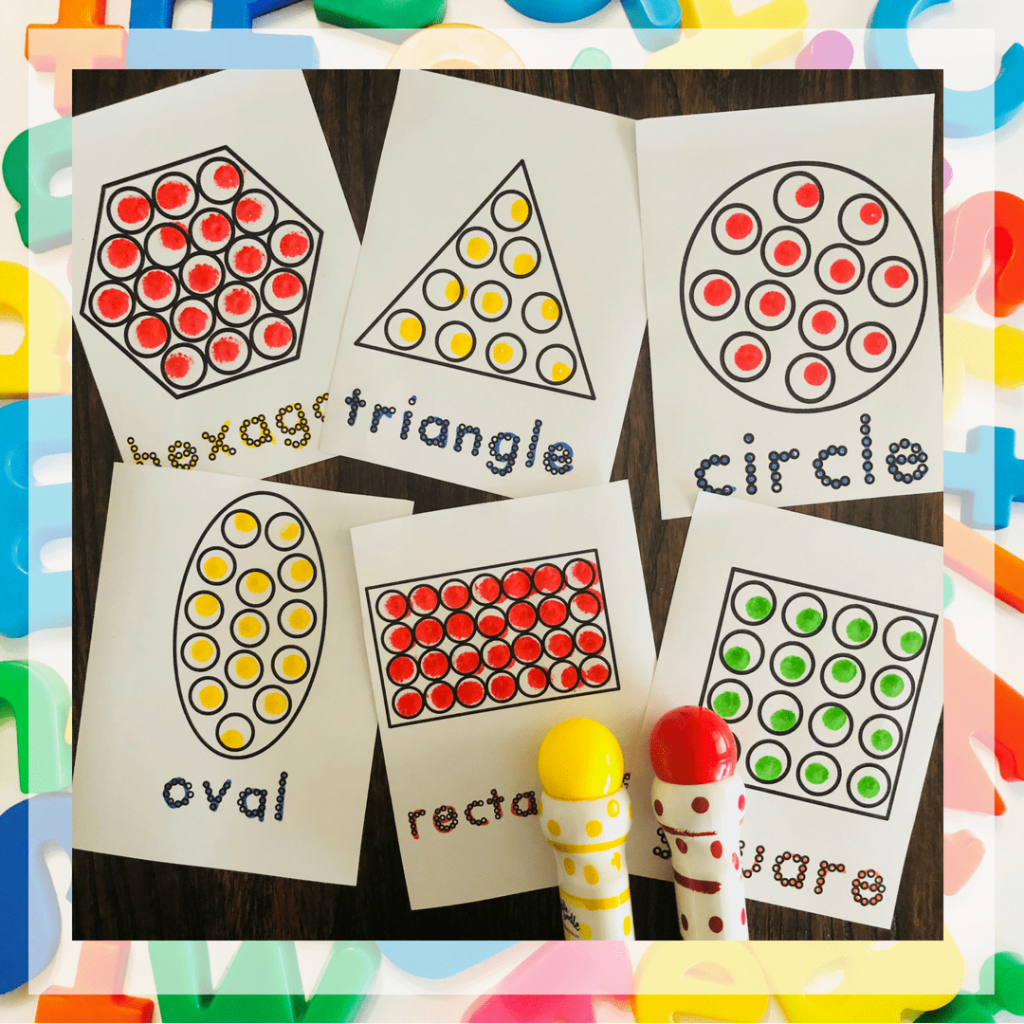 Do a Dot Printables Free – Shape Booklets