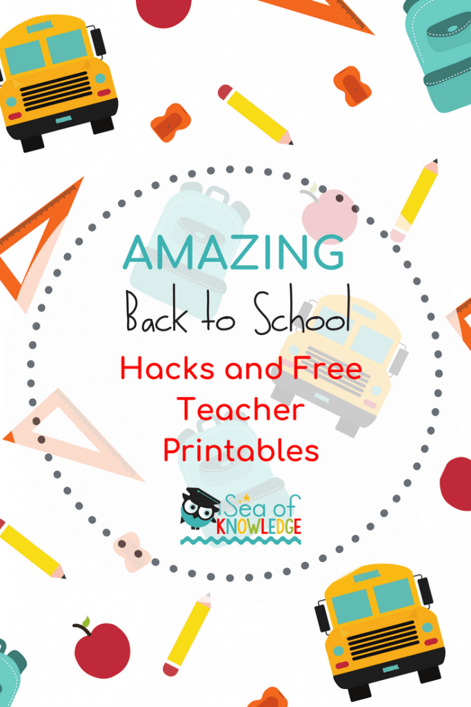 Ready for some brilliant back to school hacks and teaching ideas? Click to see over 30 back to school ideas to help setup your few first weeks of school! #backtoschool #freeprintables
