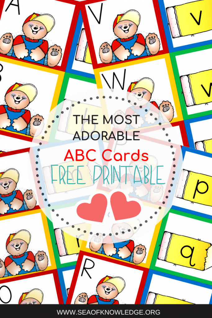 Alphabet Matching Cards ABC Bears FREE. Download these fun alphabet cards, print two sets and use them in memory games, scavenger hunts and so much more! #ABC #alphabetgames #alphabet #lettermatch #preschool #kindergarten