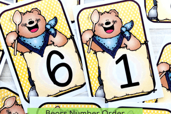 The Cutest Bear FREE Printable Numbers Cards 1-20 and Games