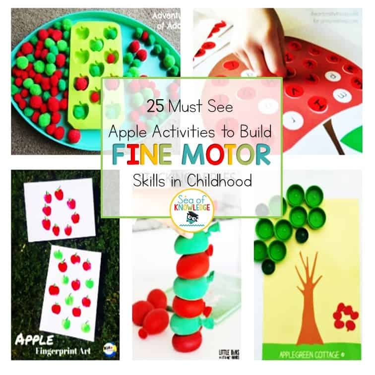 Apple Activities Fine Motor Skills Childhood