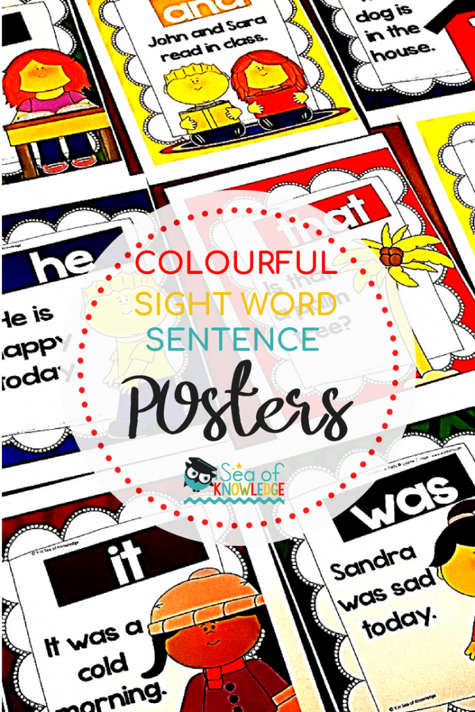 Fry Sight Word Sentence Posters FREE SET!