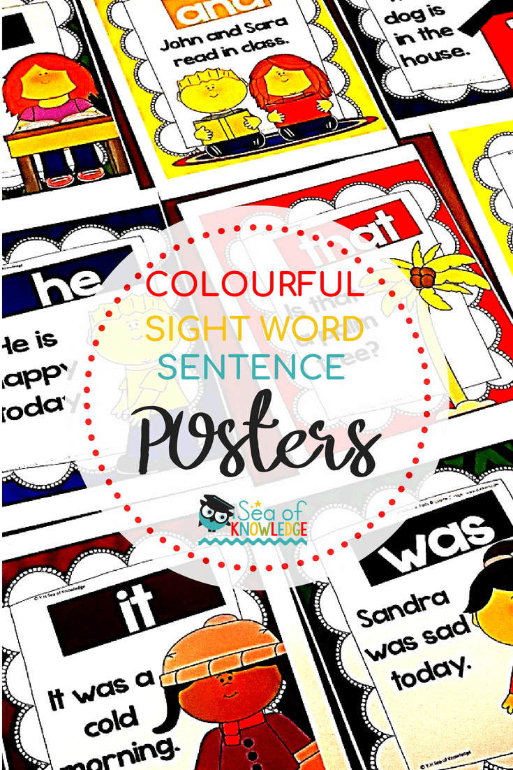 Fry Sight Word Sentence Posters