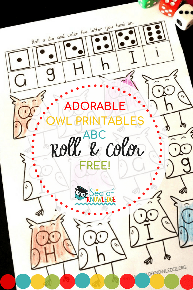 Back to School Roll and Color Letter Printables Free
