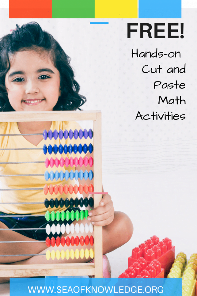 Cut and paste math activities first grade