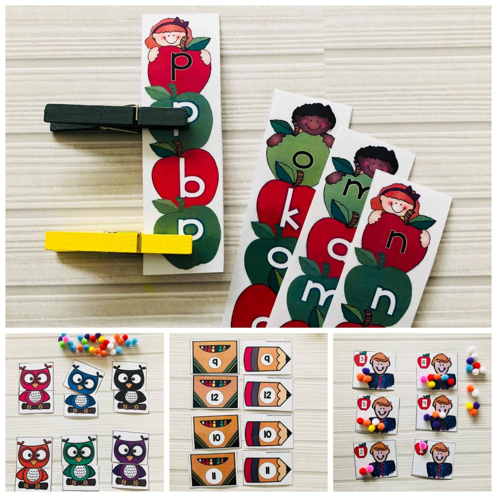 Get your FREE copy of two amazing back to school name and letter activities. These adorable activities will have your kids rushing to learn their letters! A HUGE Dj Inkers giveaway inside too, these graphics are a must for a back to school season full of smiles! #backtoschool #kindergarten #preschool #letteractivities #freeprintables