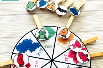Fine Motor Activities 4 Year Olds – Colour Match and Clip Wheel