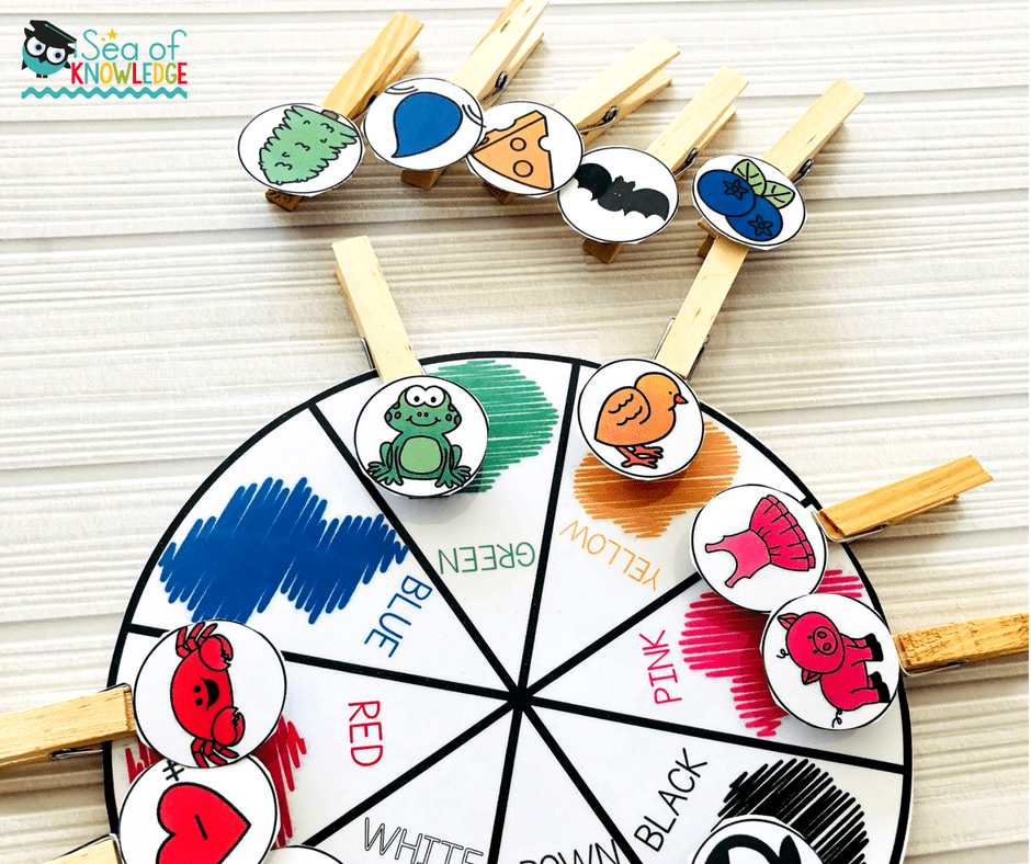 Fine Motor Activities 4 Year Olds - Colour Match And Clip Wheel - Sea Of  Knowledge