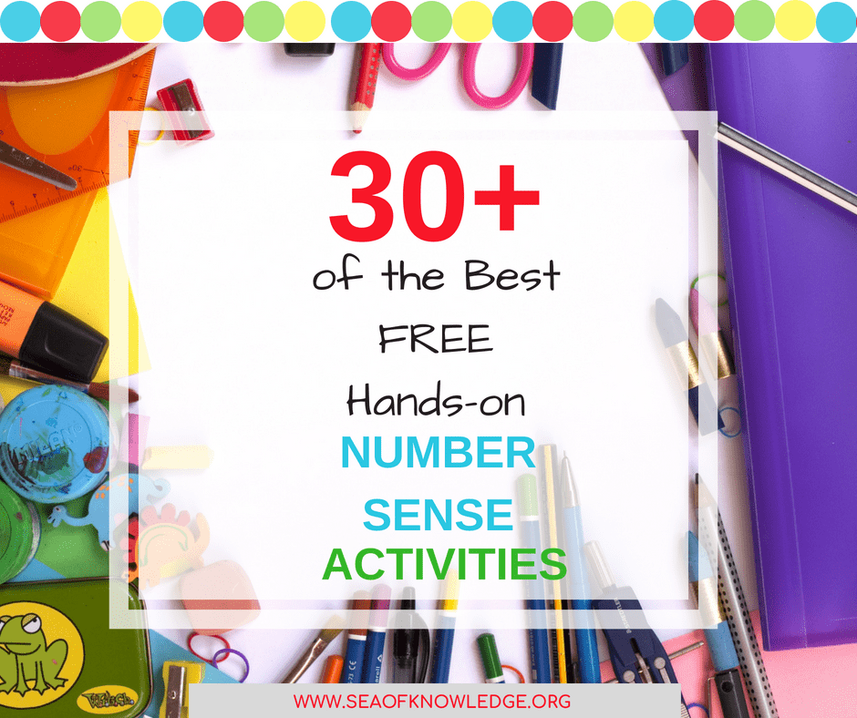 Click to download your copy of over 30 FREE activities for teaching number sense: counting, composing numbers, dough number mats and much more!