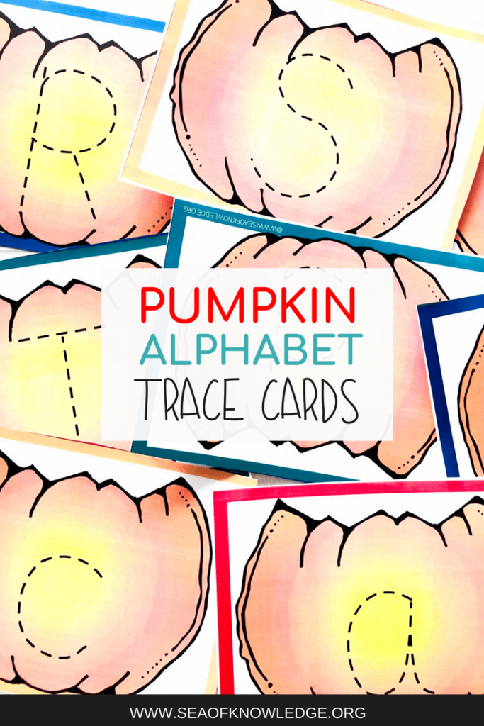 Letter Tracing Cards Pumpkin Theme