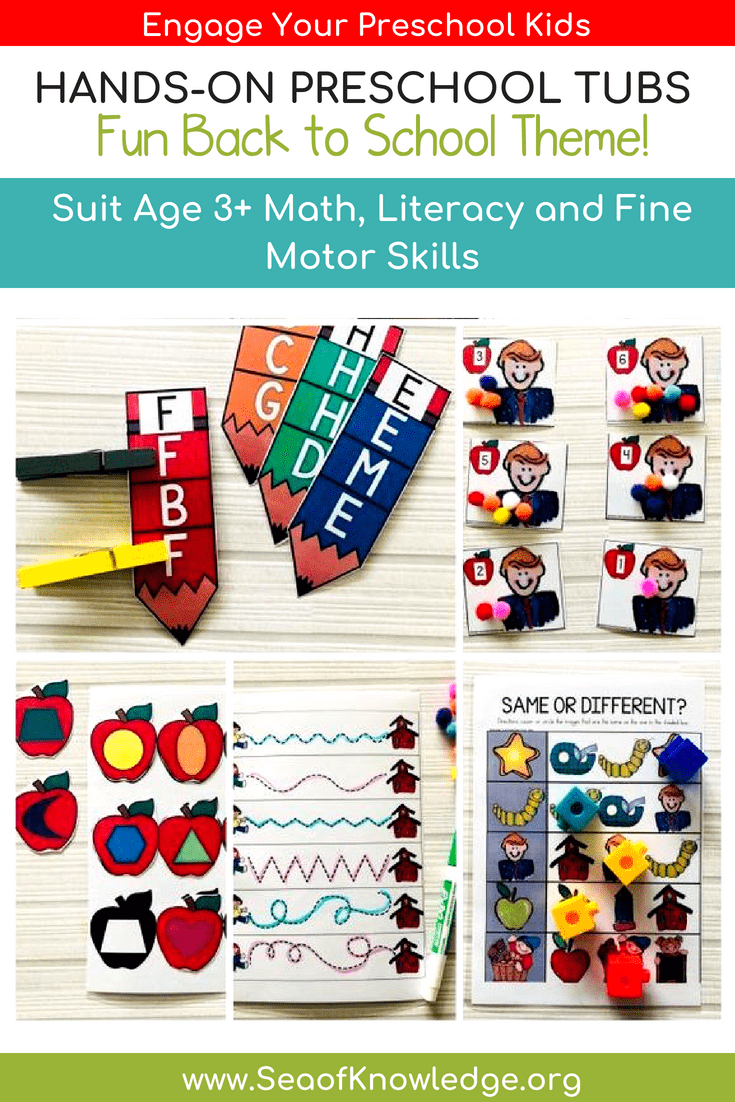 Back To School Fine Motor Skill Activities For 3 5 Year Olds Sea