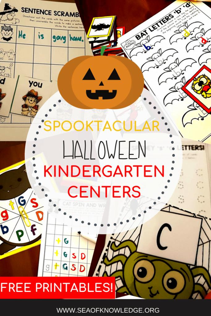 Free kindergarten Halloween Centers (2)