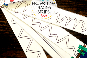 How to Improve Fine Motor Skills – Camping Tracing Strips