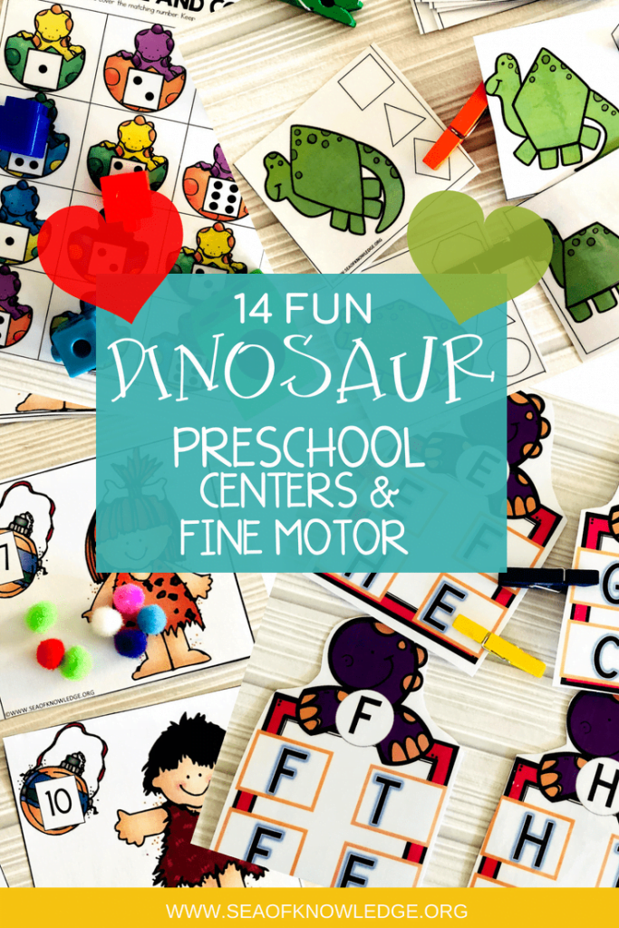 Are you looking for some fun and simple Dinosaur Activities to do with your preschoolers? Would you like to incorporate fine motor skills in preschool too? Your preschool kids are going to LOVE these hands-on dinosaur activities. #kids #teachers #preschool #preschoolactivities