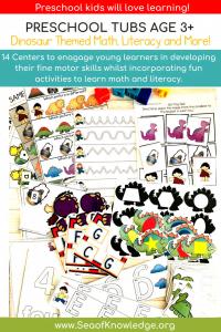 Dinosaur Activities Preschool Centers