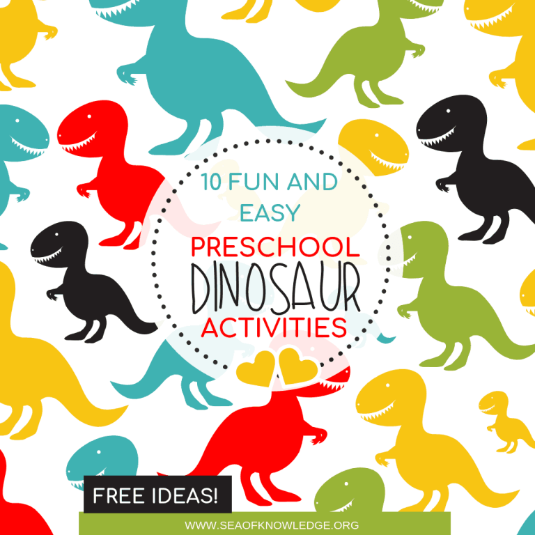 Dinosaur Activities Preschool Centers and Fine Motor Activities Age 3+