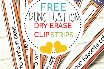 English Punctuation Activities FREE Cute and Re-usable Strips
