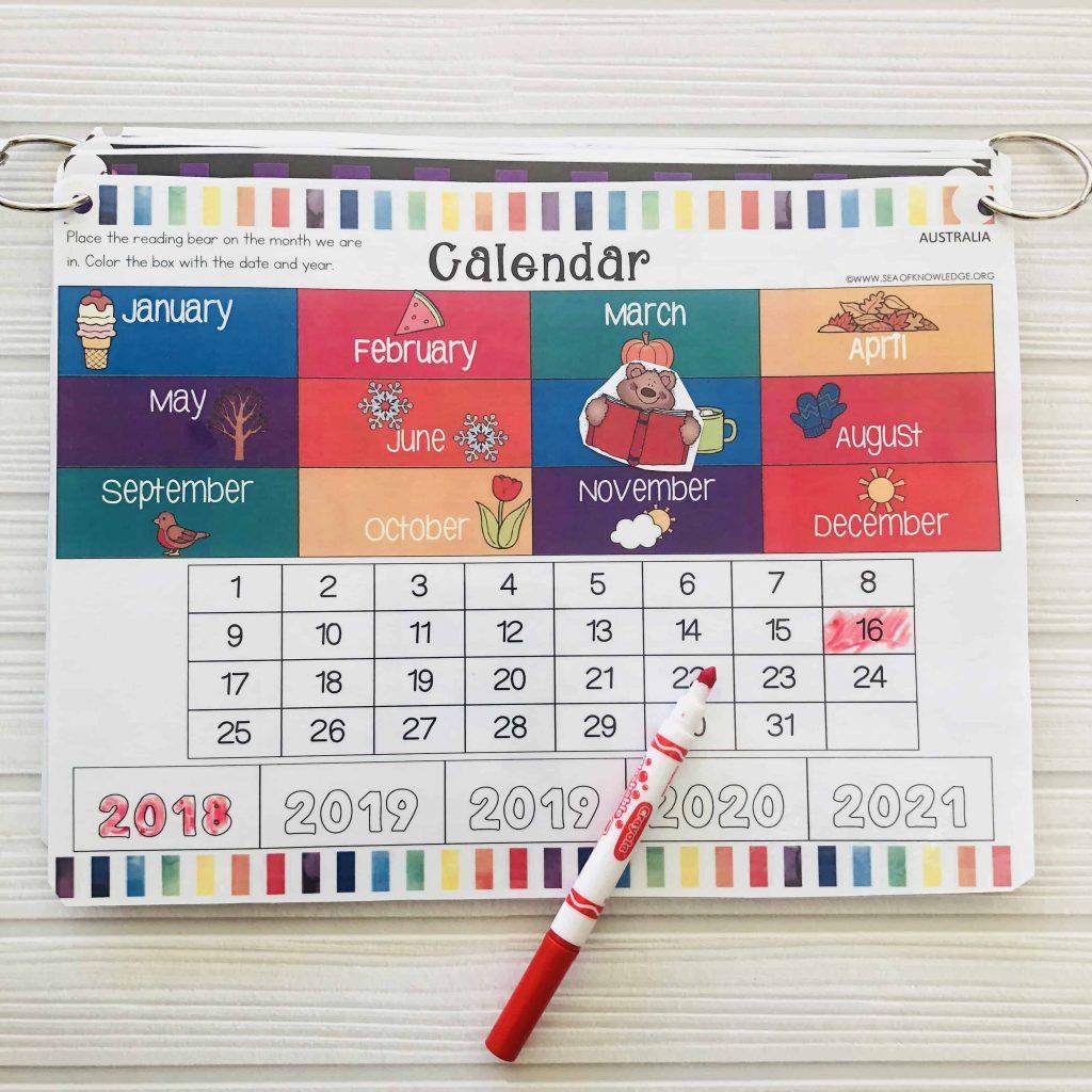 Preschool Learning Binder