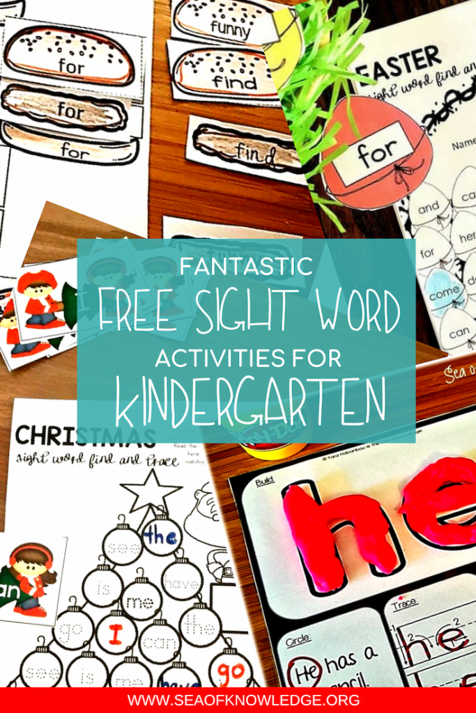 Free Sight word worksheets get your students to recognise, read, and write tricky words. Use these free sight word worksheets to build vocabulary too! #freeprintables #free #kidsactivities #preschool #kindergarten