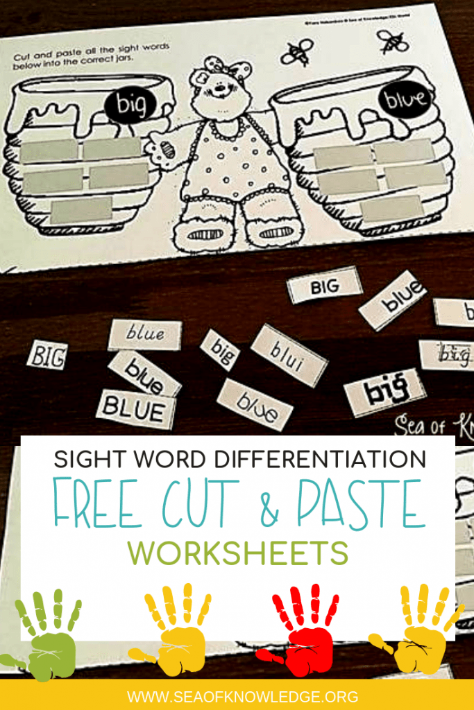 Free Sight Word Differentiation Activities