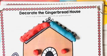 Gingerbread Play Dough mat Christmas Activities for Children