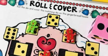 Roll and cover mat Christmas Activities for Children