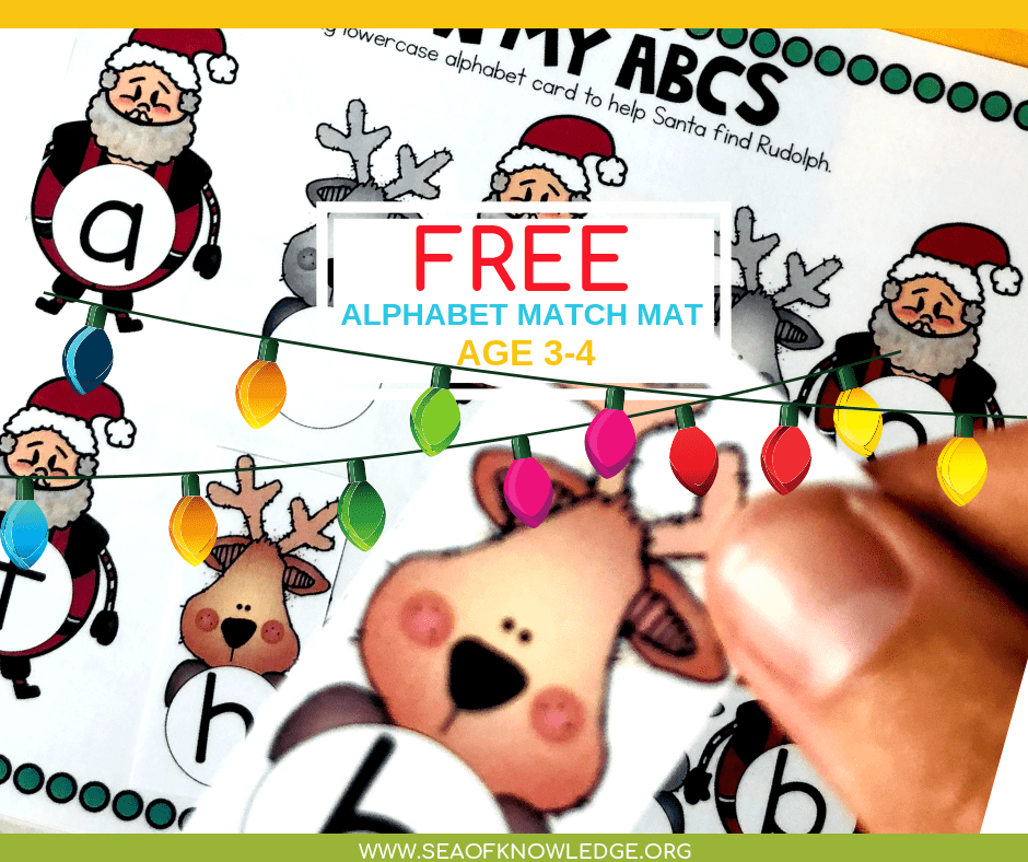 Christmas for kids is one of the most exciting times of the year, and we know it! We have plenty of free Christmas Activities for Children at Sea of Knowledge. Sign up below to receive your FREE learning book binder to use with your preschooler / child at home. #freeprintable #preschool #toddlers #kids #teachers #mothers