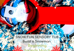 Beginning Sounds Activities - Build a Snowman Sensory Scoop Tub (3)