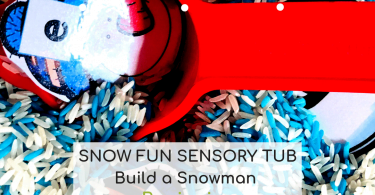 Beginning Sounds Activities - Build a Snowman Sensory Scoop Tub (3)