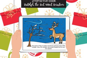 Christmas Books for Toddlers – FREE Rudolph interactive book kids will LOVE!