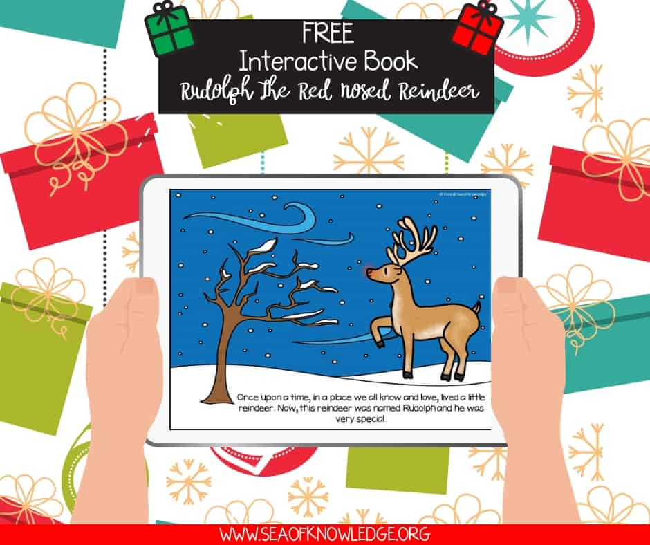 Christmas Books for Toddlers. Looking for engaging Christmas books for toddlers? Check out this FUN and interactive FREE game which will get the kids listening, reading, tapping and singing along! #toddlers #preschool #prek #free #teachers #teaching #mothers #readingapps