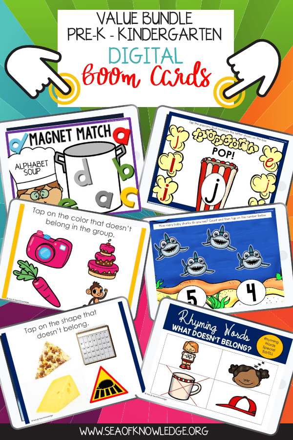 Digital Activities for Kids Boom Cards Prek Kindergarten Bundle