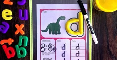 Play dough learning mats