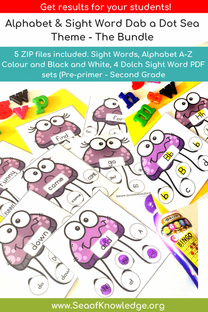 Under the Sea Do a Dot Letter Recognition Cards
