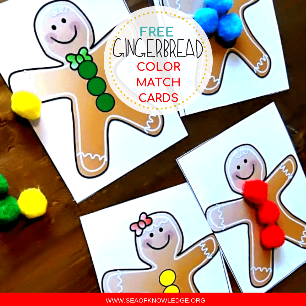 Gingerbread Color Match Cards