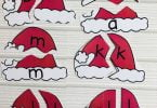 Alphabet Matching Cards Santa Theme
