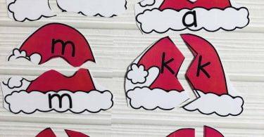 Alphabet Matching Cards Santa Theme