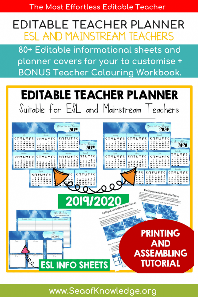 Are you looking for a simple yet organised Teacher Weekly Planner Template Download that is lightweight, straightforward and not heavy on colour ink printing? Are you looking for ways to organise and group your ESL students so that you could keep track on their progress, level and more? Look no further! Use this planner year on year! #teacher #teacherplanner
