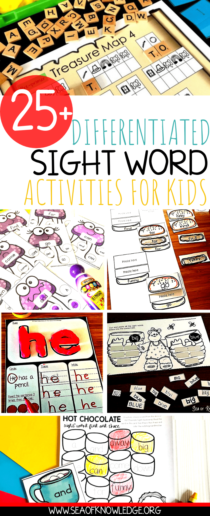graphic regarding Free Printable Sight Word Activities named Cost-free Sight Phrase Worksheets - Sea of Working experience