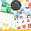 Free Valentine Math Picture Puzzles (1)