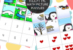 Free Valentine Math Picture Puzzles (1)