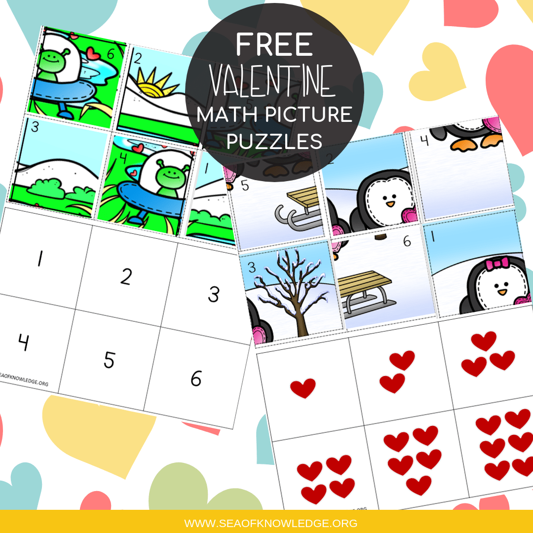 Valentine Math Puzzles – FREE and EASY to Differentiate!