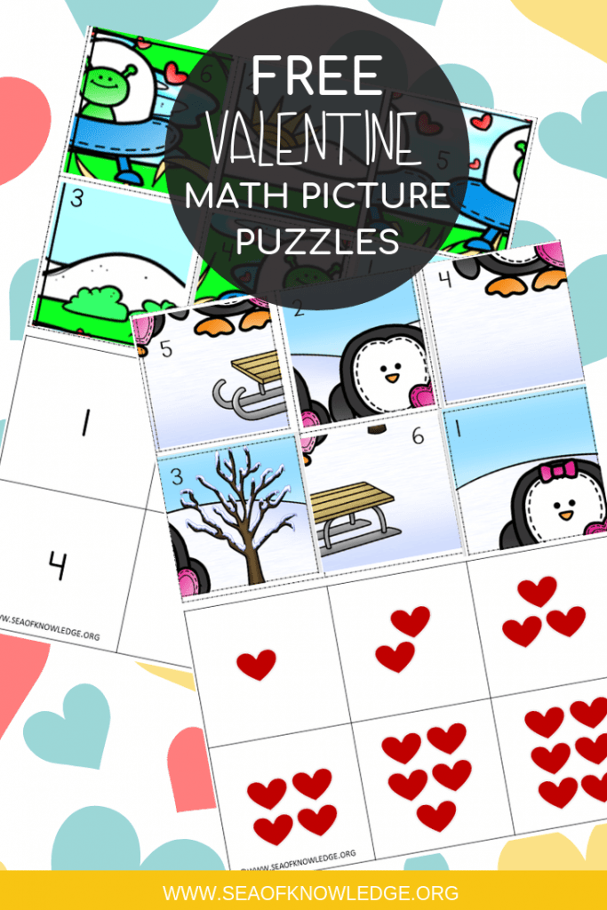 Looking for some fun ways to practice number recognition, addition and number values? These Valentine Math Puzzles are the perfect addition to your centers! #freeprintables #math #teachers #homeschool #kindergarten #preschool #learningcrafts