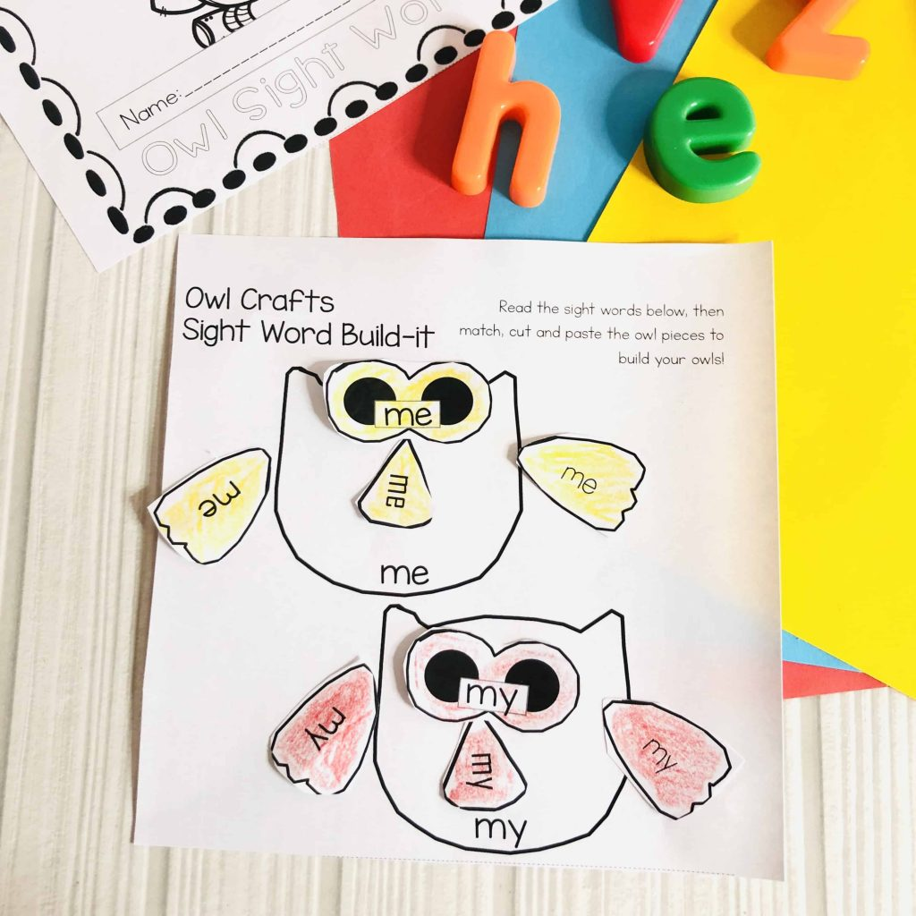 These Owl Free Sight Word Worksheets are the easiest way to engage and encourage kids to practice reading and recognising their sight words! #freeprintables #kidsactivities #kindergarten #preschool #sightwords