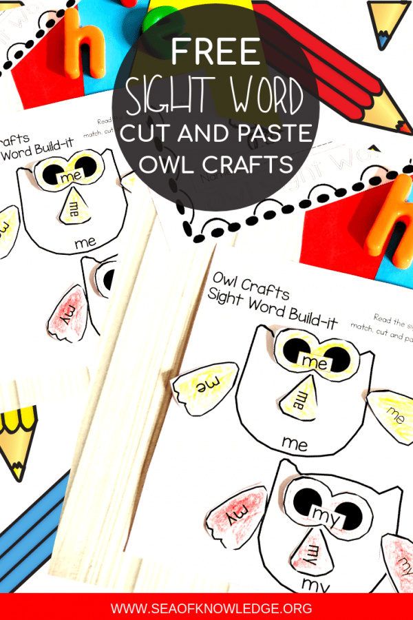 Owl Cut and Paste Printables