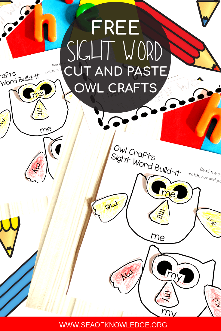 - Owl Sight Word Cut And Paste Printables - Simple Reading Fluency