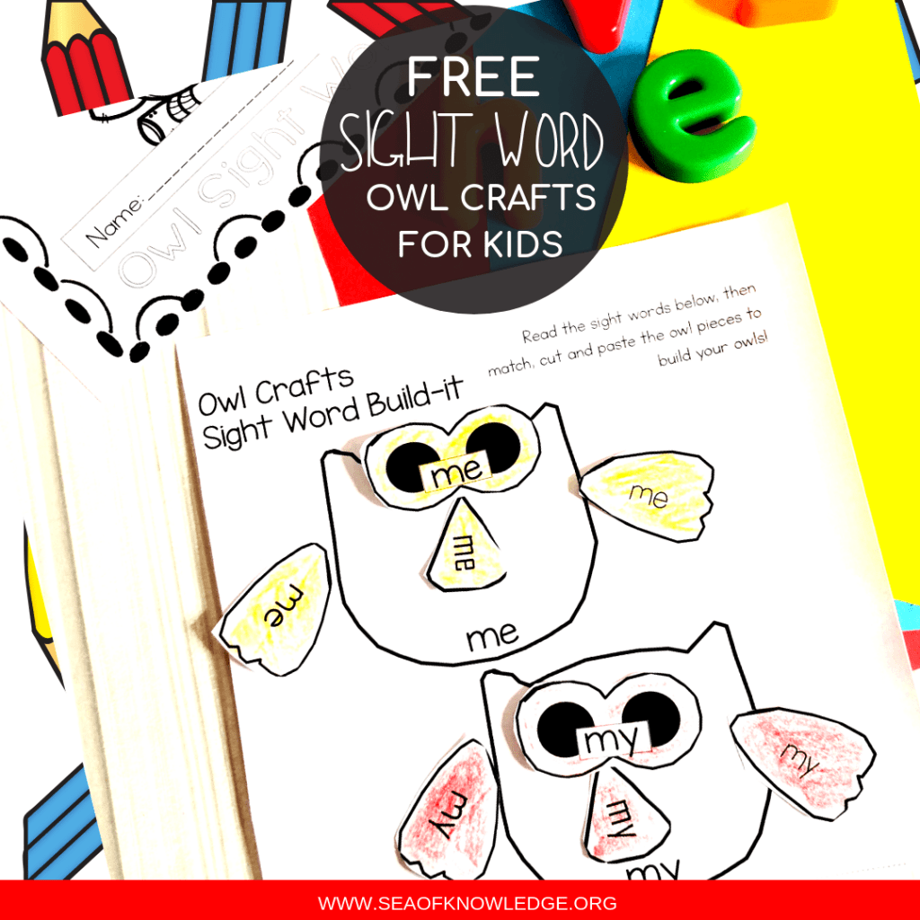 Owl Free Sight Word Worksheets 2