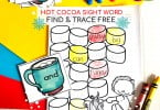 Winter Free Sight Word Worksheets (1)