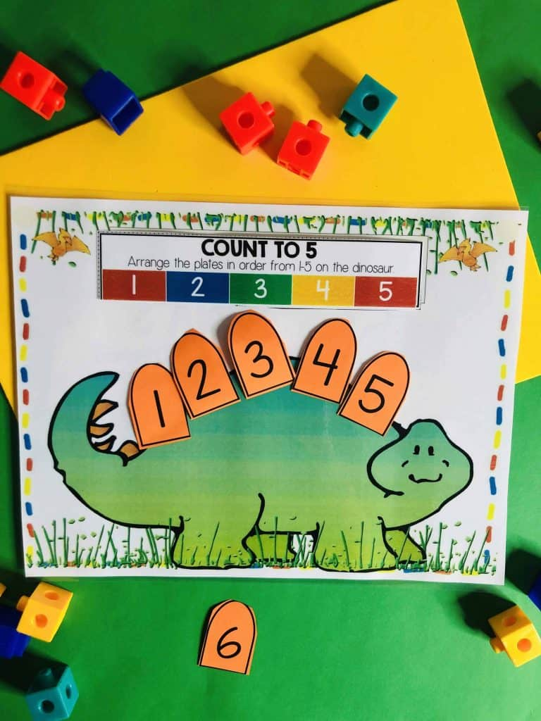 Dinosaur Learning Busy Book Preschool Age 3-5 - CUSTOM MADE