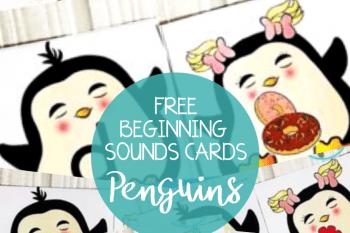 Penguins Beginning Sounds Activities – Super Cute Matching Cards!
